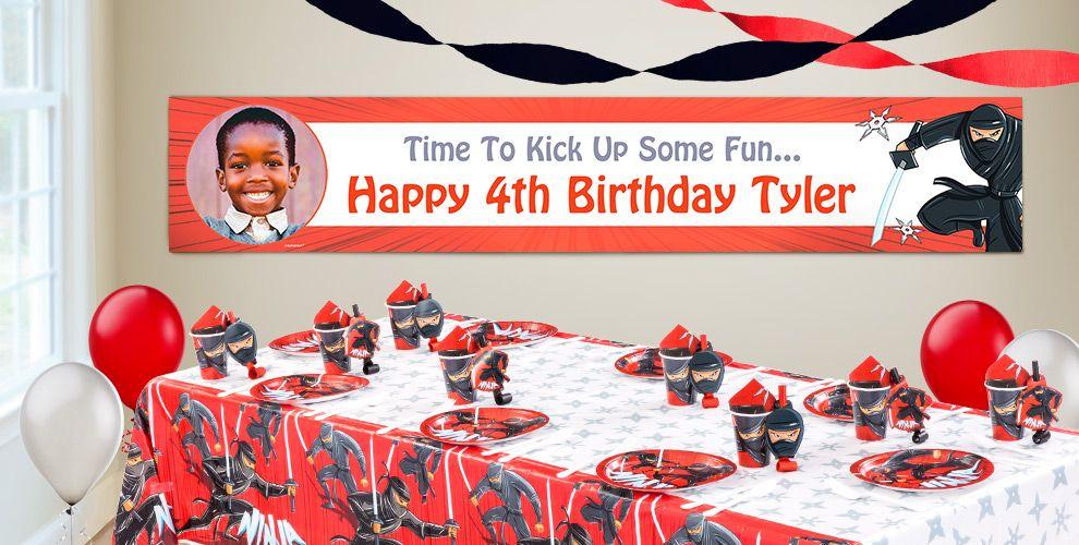 Custom Ninja Birthday Banners
