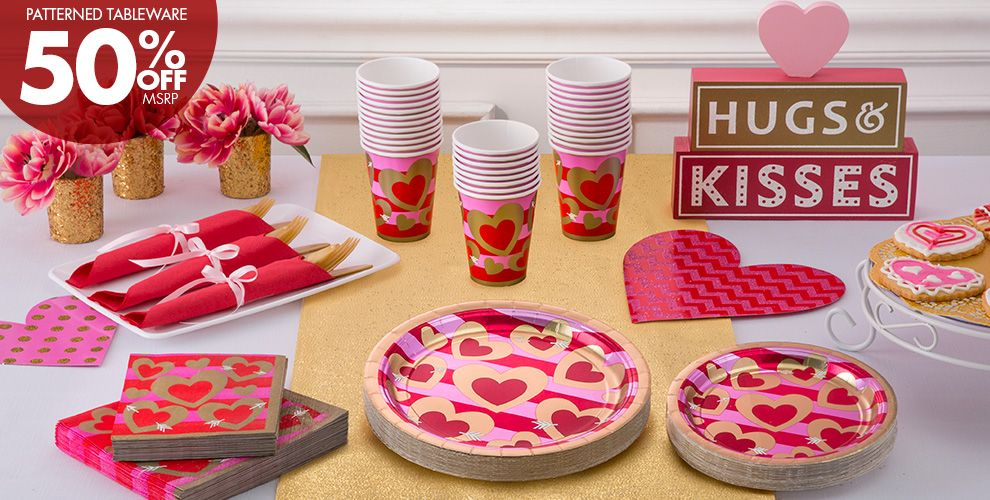 Heart of Gold Valentine's Day Party Supplies