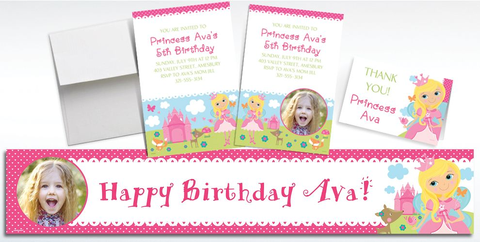 Custom Woodland Fairy Invitations, Thank You Notes and Banners