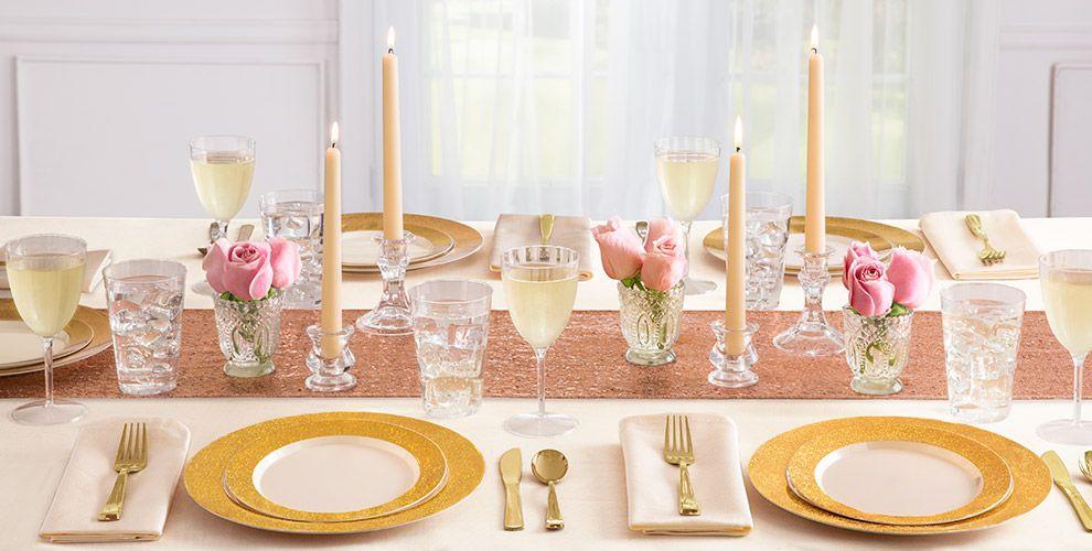 Cream Prismatic Gold Border Premium Tableware
