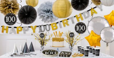 Sparkling Celebration 100th Birthday Party Supplies Party City