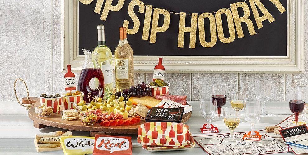 Sip Sip Hooray Party Supplies