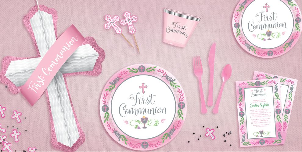 Girl's Blessed First Communion Party Supplies