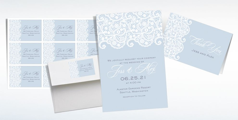 Custom Cool Lace Wedding Invitations & Thank You Notes