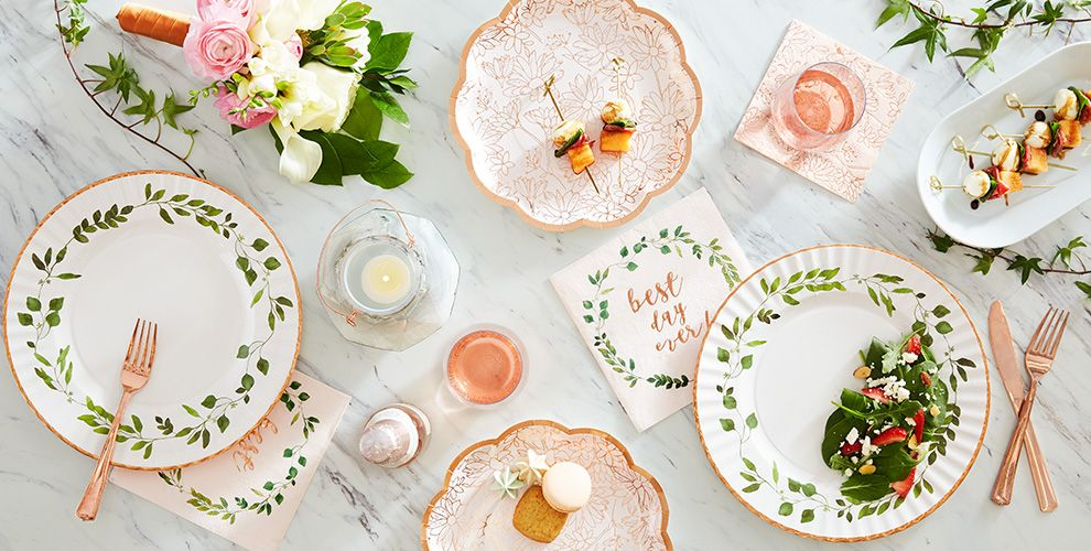 Rose Gold Wedding Party Supplies
