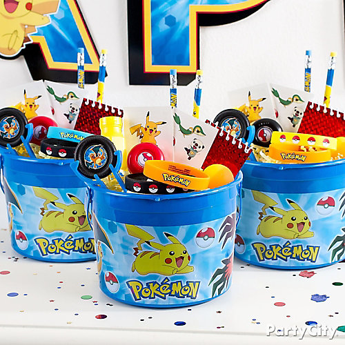 Pokemon Favor Bucket Idea