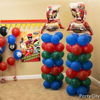 Power Rangers Balloon Tower DIY Decorating Ideas Power Rangers
