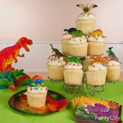 Prehistoric Dinosaur Cupcake Tower Idea Cake Cupcake Ideas
