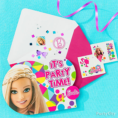 Barbie Invite with Surprise Idea