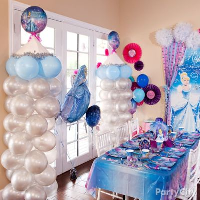 Cinderella Balloon Tower DIY Decorating Ideas Cinderella Party