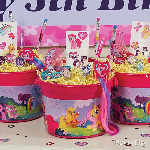 My Little Pony Favor Bucket Idea