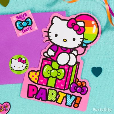 Hello Kitty Invitations with Surprise Idea Party City Party City