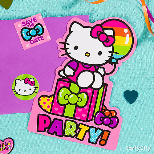 Hello Kitty Invite with Surprise Idea