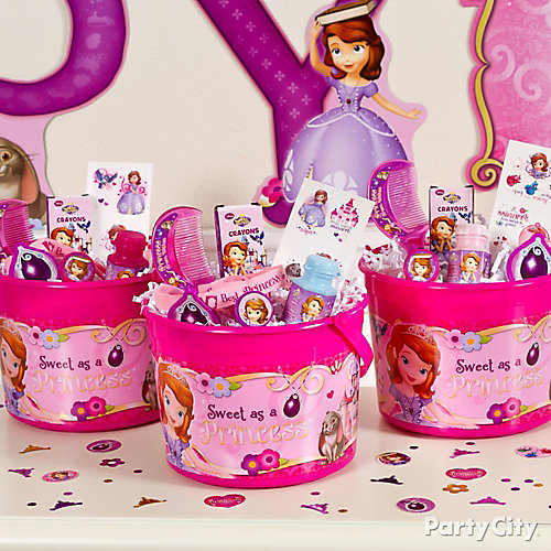 Sofia the First Favor Bucket Idea
