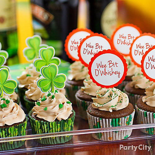 St. Paddy's Boozy Cupcakes Ideas