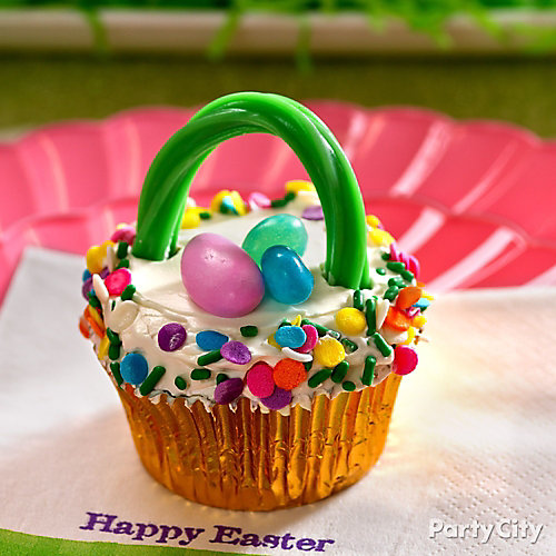 Easter Basket Cupcake Idea