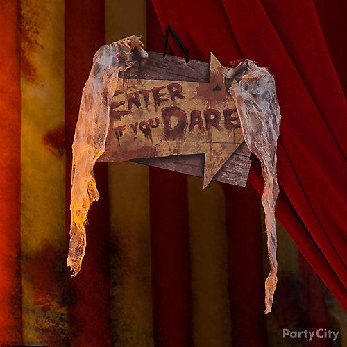 Halloween Creepy Carnival Entrance Sign Idea