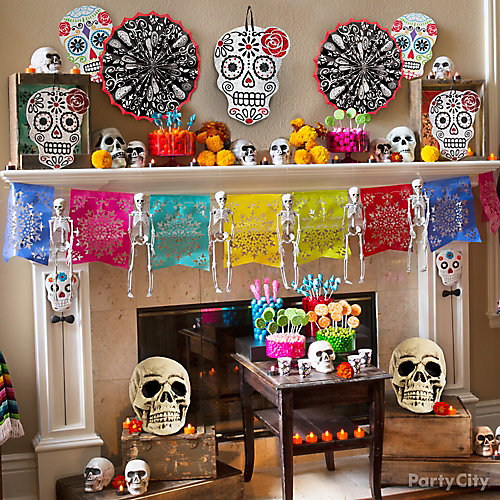 Day of the Dead Mantel Decorating Idea
