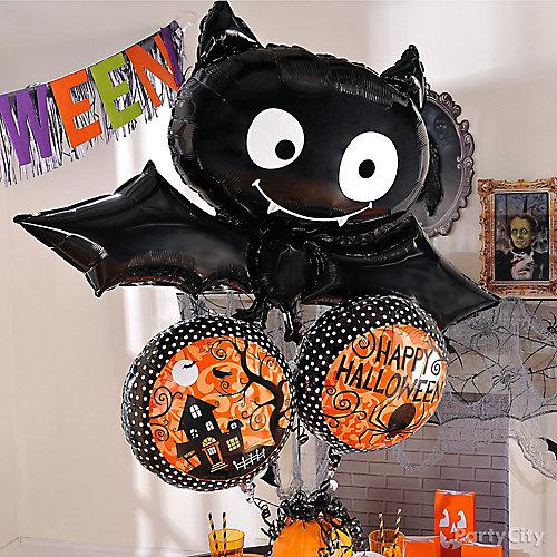 Friendly Bat Balloon Bouquet Idea