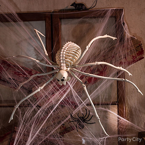 Haunted House Giant Spider and Web Idea