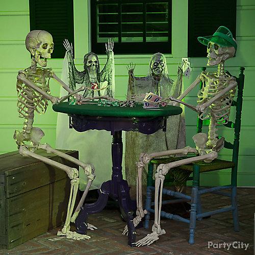 Halloween Skeleton Poker Table Idea