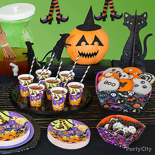 Kid Friendly Halloween Buffet Table Idea