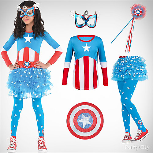 Girls' Captain America Costume Idea