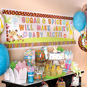 Creative Baby Shower Decorating Ideas, Personalized Baby Shower Banner Idea  ...