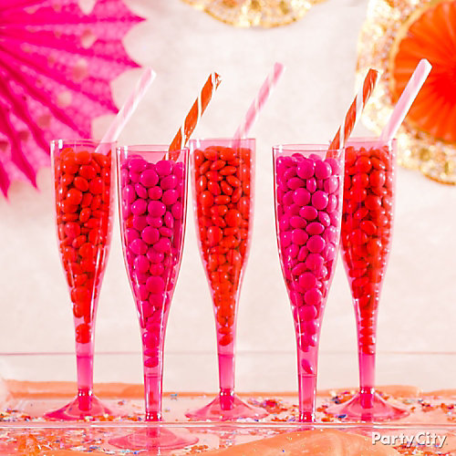 Pink Orange Chocolate Drop Champagne Idea