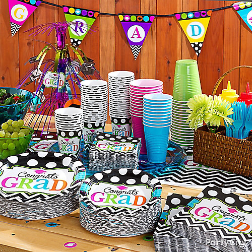 Graduation Party Ideas: Grad Buffet Tableware Idea