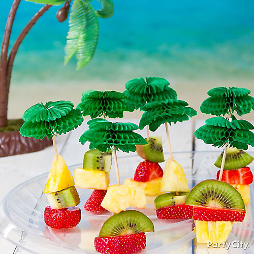 Tropical Fruit Skewers Idea