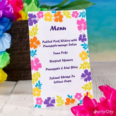 Tropical Party Invitation Idea Luau Food Ideas Luau Party Ideas