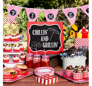 Gingham Picnic Party Ideas