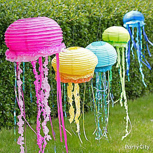 DIY Paper Lantern Jellyfish Decorations How To