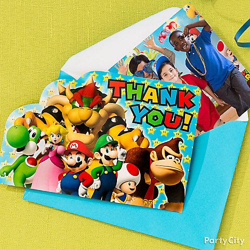 Super Mario Photo Thank You Note Idea