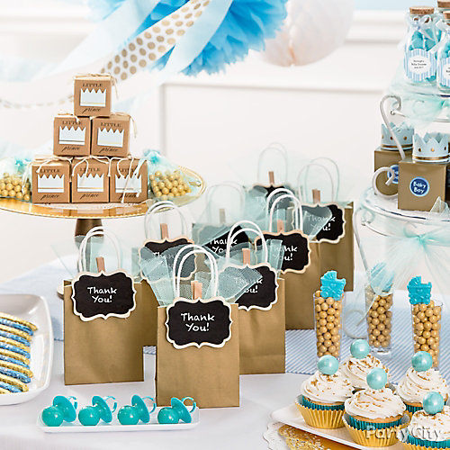 Prince Baby Shower Favor Bar Idea