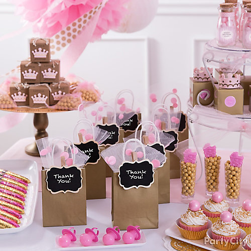 Princess Baby Shower Favor Bar Idea