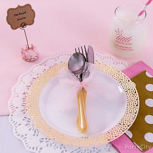 Princess Baby Shower Place Setting Idea