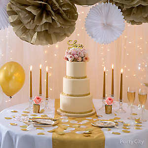Gold Wedding Reception Ideas