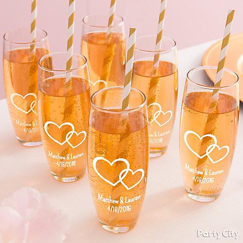 Golden Anniversary Custom Glasses Idea