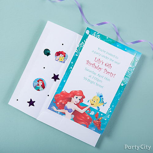 Little Mermaid Invite with Surprise