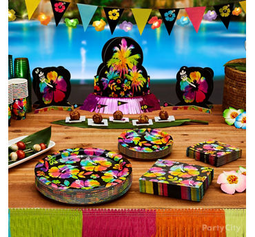 Neon Paradise Luau Party Ideas