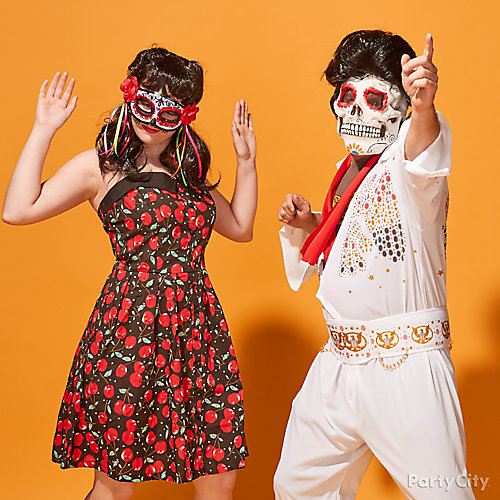 Rockabilly Day of the Dead Couples Costume Idea