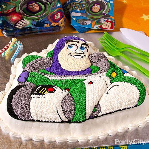Pleasing Buzz Lightyear Cake How To Party City Funny Birthday Cards Online Inifodamsfinfo
