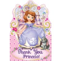 Sofia the first party supplies sofia the first birthday ideas sofia the first thank you notes 8ct stopboris Images