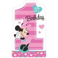 Minnie mouse 1st birthday party supplies party city 1st birthday minnie mouse invitations 8ct stopboris Images