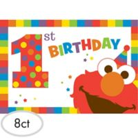 Elmo 1st birthday party supplies party city 1st birthday elmo invitations 8ct filmwisefo Image collections