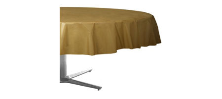 Golden 50th wedding anniversary party supplies 50th anniversary gold plastic round table cover junglespirit Gallery