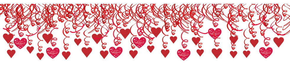valentines day swirl decorations 30ct
