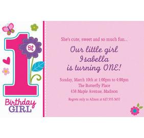 Custom sweet birthday girl photo invitations party city custom sweet birthday girl invitations filmwisefo